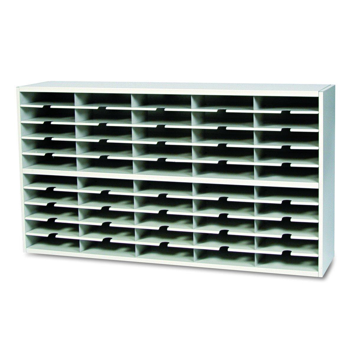 Mayline SR6033PG Mailroom system 2 tier sorter w/o riser, 40 pockets, 60w x 13 1/4d x 33 1/4h
