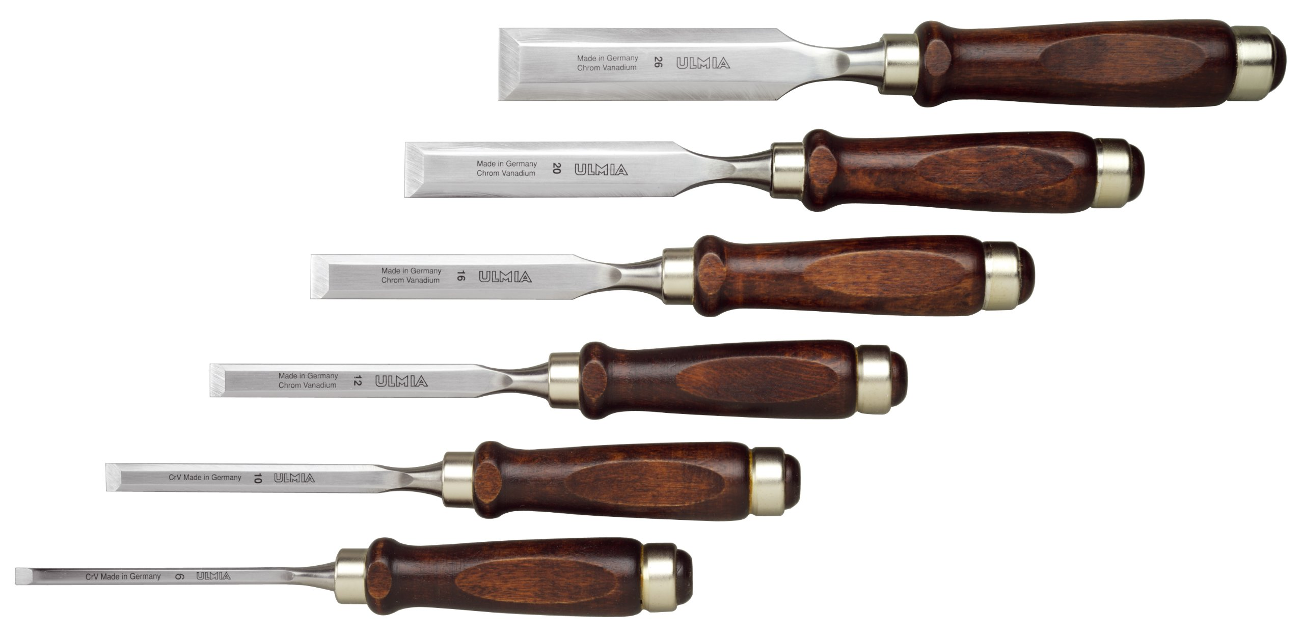 Ulmia 6 Piece Firmer Chisel Set by Ulmia
