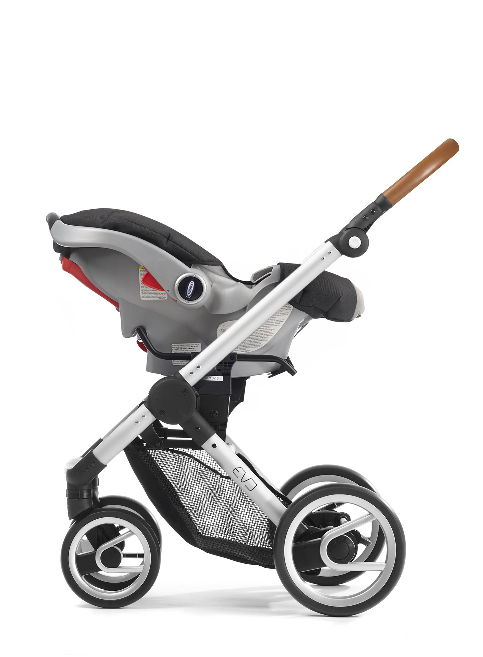 Mutsy Evo Industrial Edition Stroller, Grey with Silver Chassis by Mutsy (Image #4)