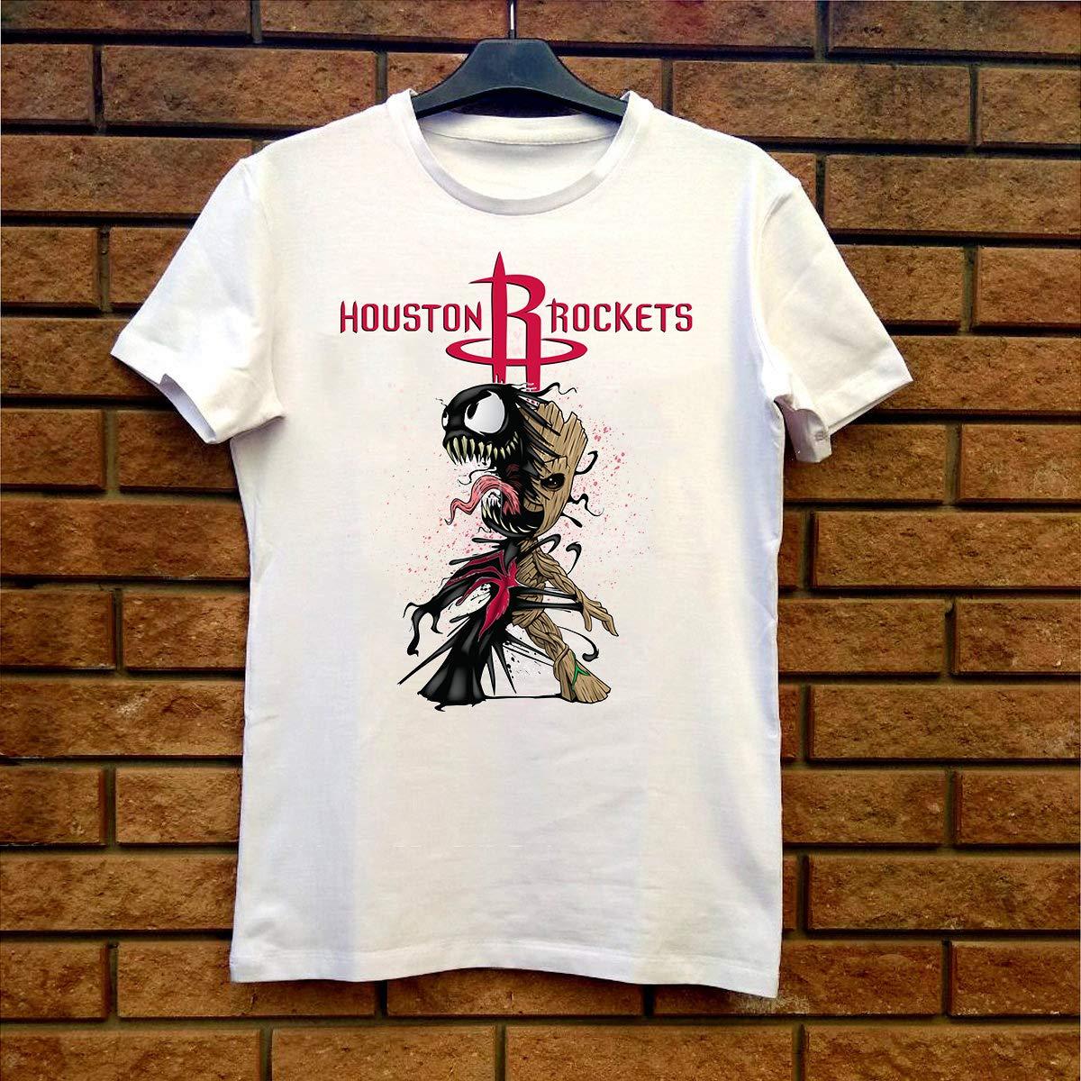Groot Venom Houstonrockets Fan Gift Tshirt