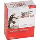 SQUEEZY Sports Nutrition Energy Super Gel - Caja de 12 Bolsas 33 g Cola y Cafeína - Paquete de 1 de 396 g