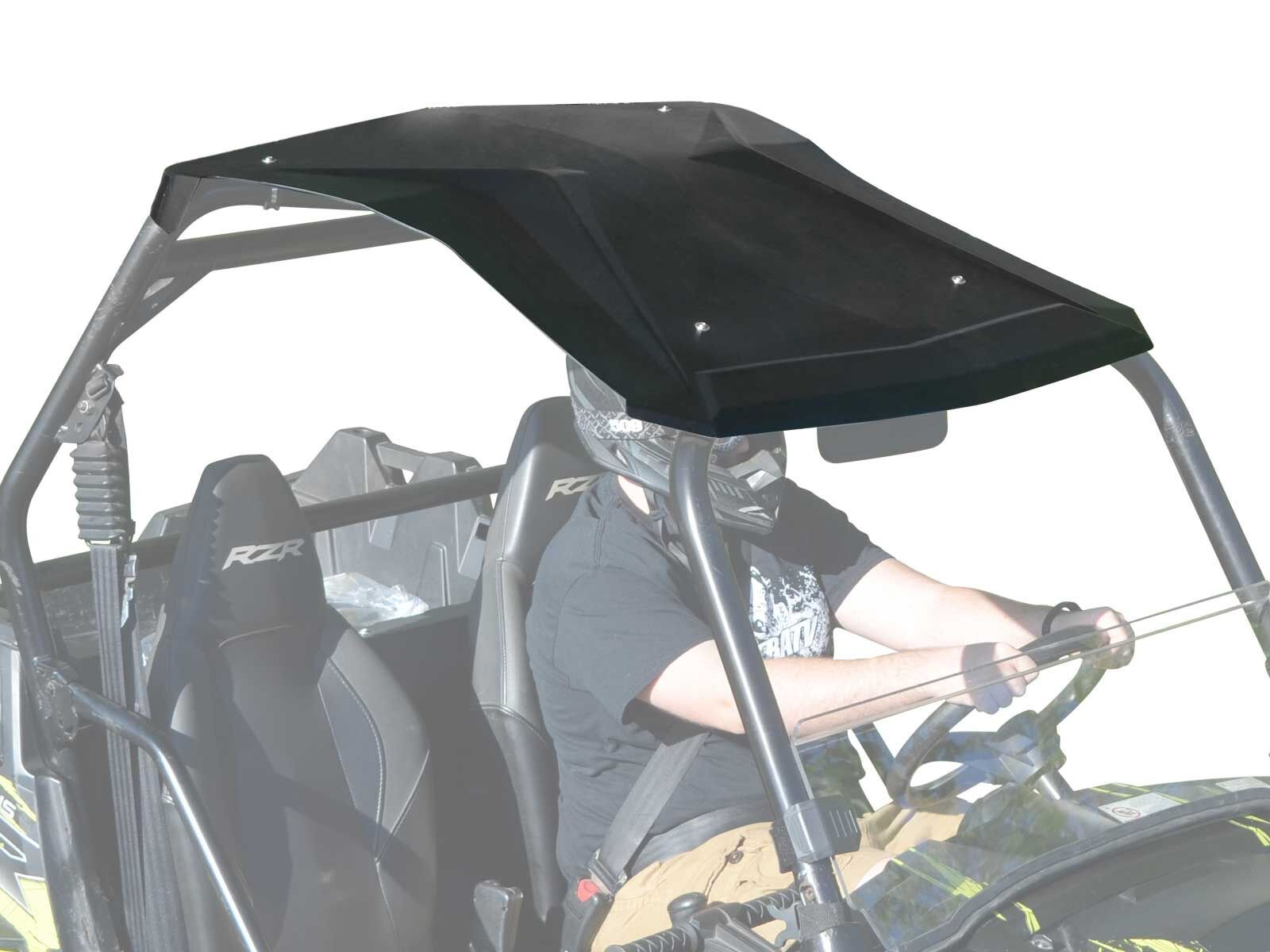 SuperATV Heavy Duty Plastic Roof for Polaris RZR 800/800 S/XP 900/570 - Easy to Install!