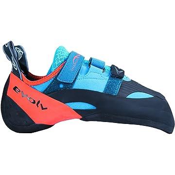 reliable Evolv Shaman Climbing Shoe - Blue/Orange 10.5