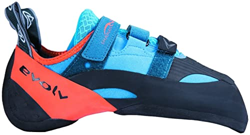 Evolv Shaman Climbing Shoe - Blue/Orange 11
