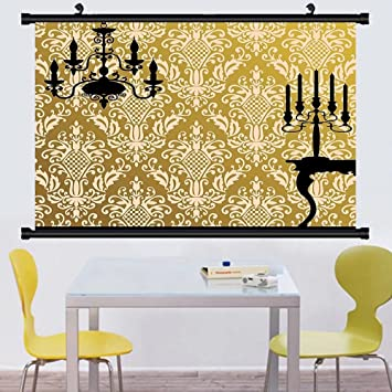 Amazon.com: Gzhihine Wall Scroll Damask Decor English Country House ...