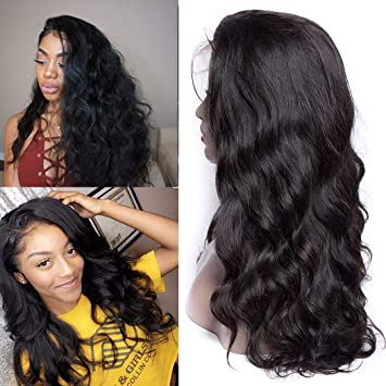 Full Lace Wigs Body Wave Human Hair Transparent