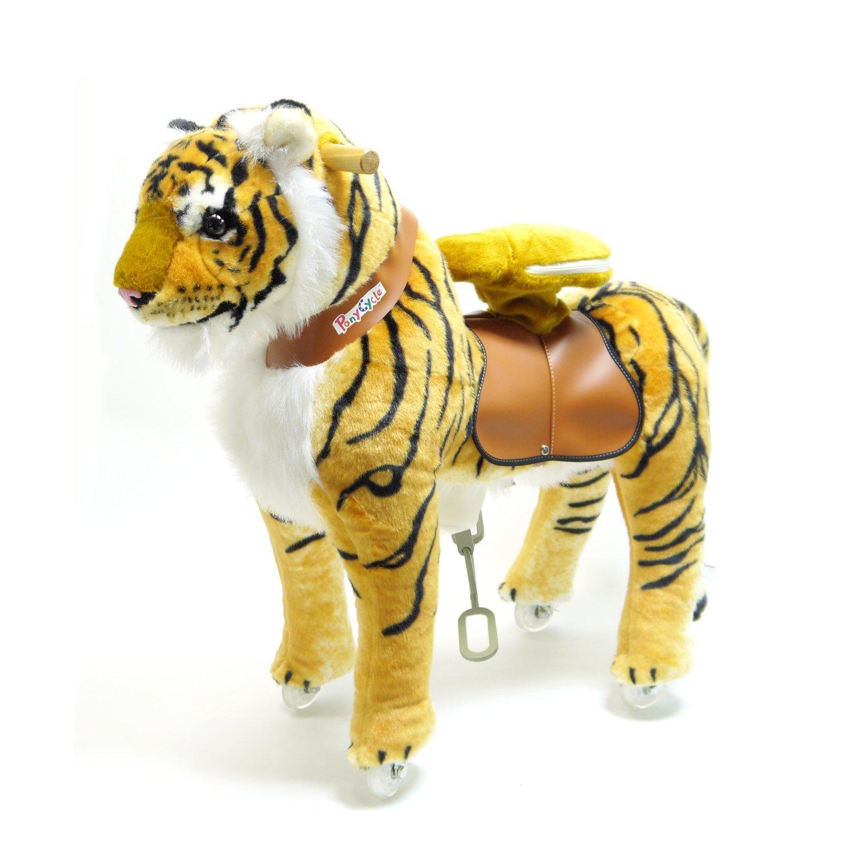 PonyCycleShop Oficial Montar a Caballo Caminata mecánica Tigre Medio N4113
