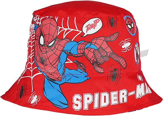 New Spiderman Authentic Summer Cap Hat Red//Blue Age 3-6 Years