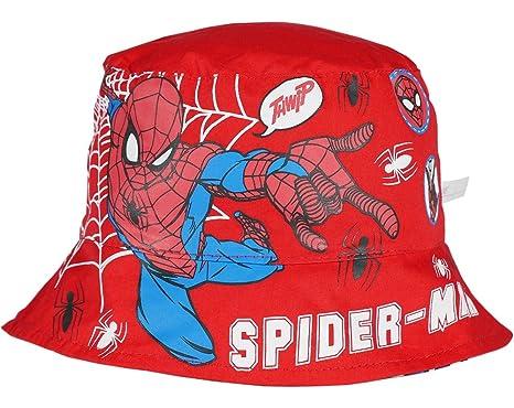Marvel Spiderman Official Boys Bucket Hat Reversible Caps Summer Sun Hats  2-10 Years - New 2018  Amazon.co.uk  Clothing c6263ed3197c