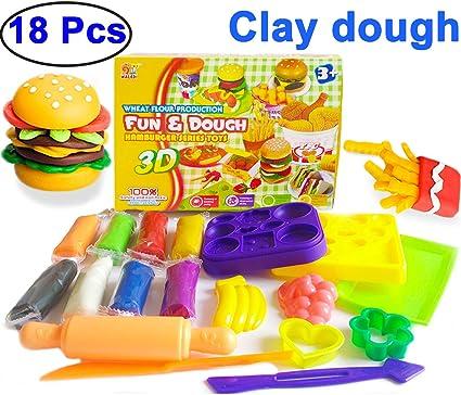 Amazon Com 18 Pcs Play Dough Toys For Kids Girls Boys Clay Dough