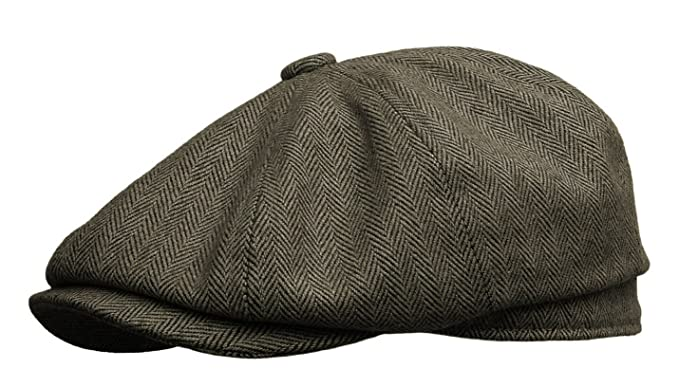 1950s Mens Hats | 50s Vintage Men's Hats  Newsboy Gatsby Ivy Cap Golf Cabbie Driving Hat $35.00 AT vintagedancer.com