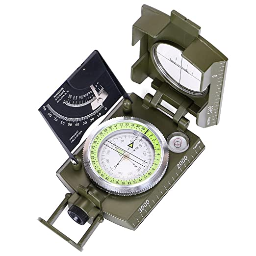 15 opinioni per ARINO Bussola Multifunzionale Compasso Professionale Impermeabile per Militare