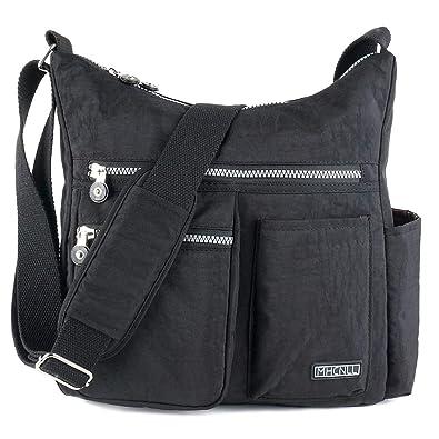 4583654a95c0 Crossbody Bag with Anti Theft RFID Pocket - Women Lightweight  Water-Resistant Purse (black