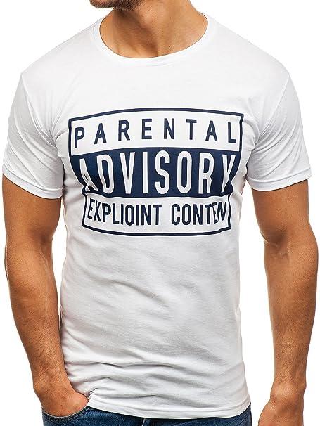 BOLF Hombre Camiseta De Manga Corta Estampado Camiseta De Algodón Estilo Diario 3C3 Motivo gTZ9SyBKzs