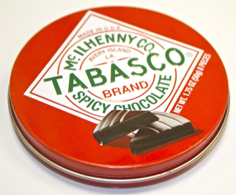 "Tabasco ""Spicy Dark Chocolate Wedges"" - Pack of 2 Tins - 1.75 oz each"
