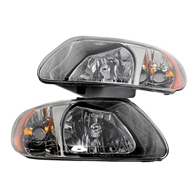 2PC Driver & Passenger Headlights Headlamps Set Replacement for Chrysler 2001 2002 2003 2004 2005 2006 2007 Town & Country/Voyager 2001-2007 Dodge Caravan/Grand Caravan: Automotive [5Bkhe0808925]
