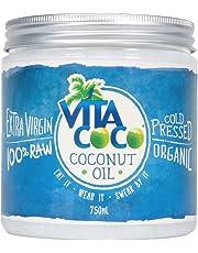 Vita Coco Organic Virgin Coconut Oil - Non GMO Cold Pressed Gluten Free Unrefined Oil - Use as Cooking Oil, Skin Moisturizer or Hair Shampoo 750ml