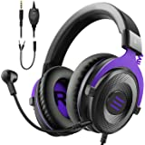 EKSA PC Gaming Headset - Xbox Headset Wired Headphones with Detachable Noise Canceling Mic Stereo Sound, Gaming Headphones fo