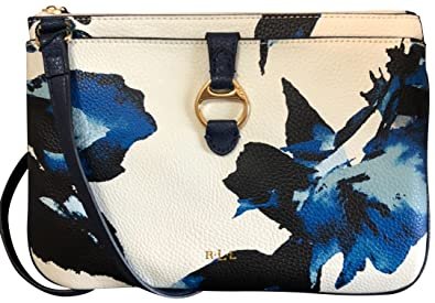 e1ba008b52 Image Unavailable. Image not available for. Color  Lauren Ralph Lauren  Leather Anfield II Crossbody Navy Floral