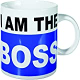 Out of the blue Mug de porcelaine de 78/8179 XL, I Am The Boss, Env. 13 x 11 cm