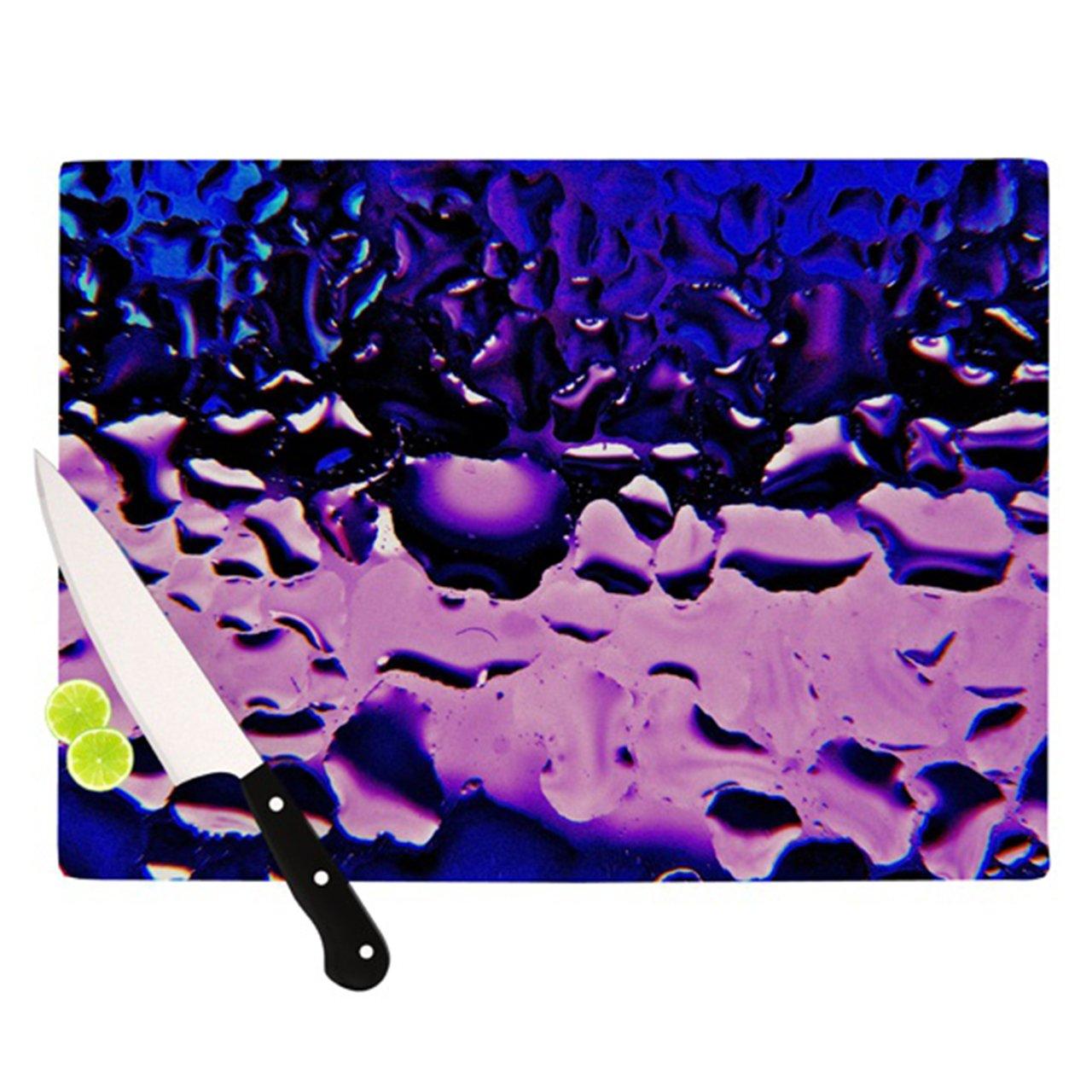 Kess InHouse Maynard Logan Cutting Board, 11.5 by 15.75-Inch, Window Purple