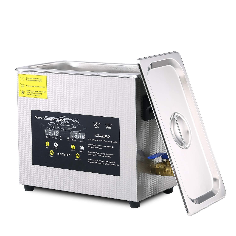 Ultrasonic Cleaner 6.5L Digital Timer Heater Ultrasonic Carburetor Parts Cleaners SUS 304