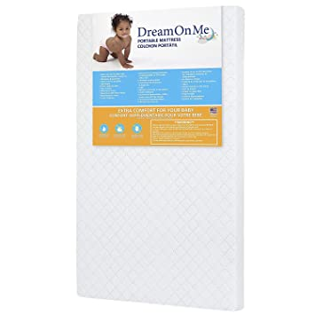 Dream On Me 3 Mini//Portable Crib Mattress White