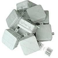 Kopp 352810502 Aftakdoos voor vochtige ruimtes, met 5-polige klemlijst, IP 54, 75 x 75 x 40 mm, professionele verpakking…