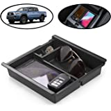 lebogner Center Console Storage Box Compatible with Toyota Tacoma, Armrest Center Console Organizer Tray with Coin Container
