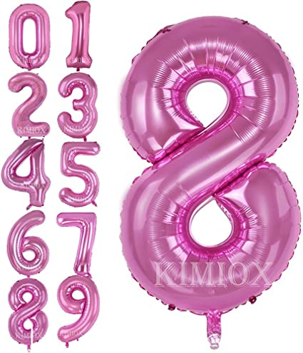 Silver Number 0 Number Balloons,40 Inch Birthday Number Balloon Party Decorations Supplies Helium Foil Mylar Digital Balloons