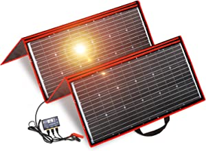 DOKIO 300 Watts 12 Volts Monocrystalline Foldable Solar Panel with Inverter Charge Controller for RV Camping Canavas