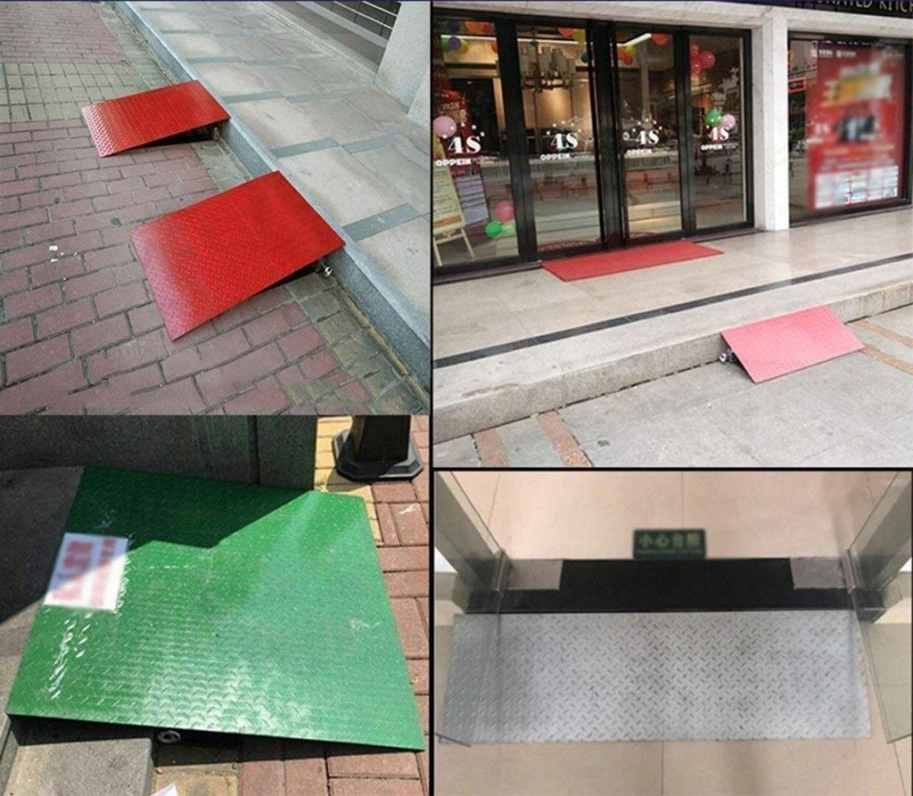 Color : Silver, Size : 504012~22CM Heavy Metal Curb Ramps Garage Car Step Uphill Mat Outdoor Wheelchair Ramps Kerb Ramps Lifting Ramps Board