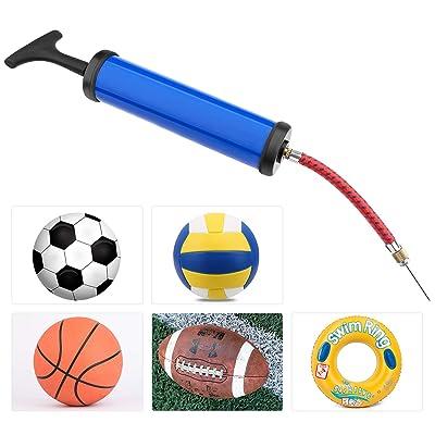 Air Pump,Ball Pump Inflator Kit with Needle,Basketball Football-Green
