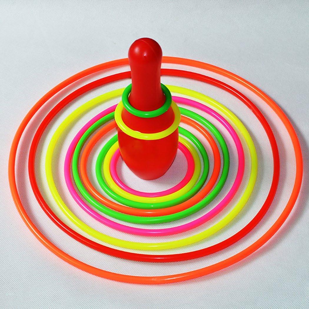 Joyibay 20PCS Ni/ños Lanzamiento de Aros Juguete Lanzamiento de Aros Juego de Juego para el Alivio del Estr/és