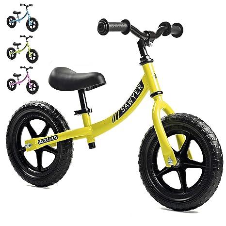 Sawyer - Bicicleta Sin Pedales Ultraligera - Niños 2, 3 y 4 Años (Amarillo