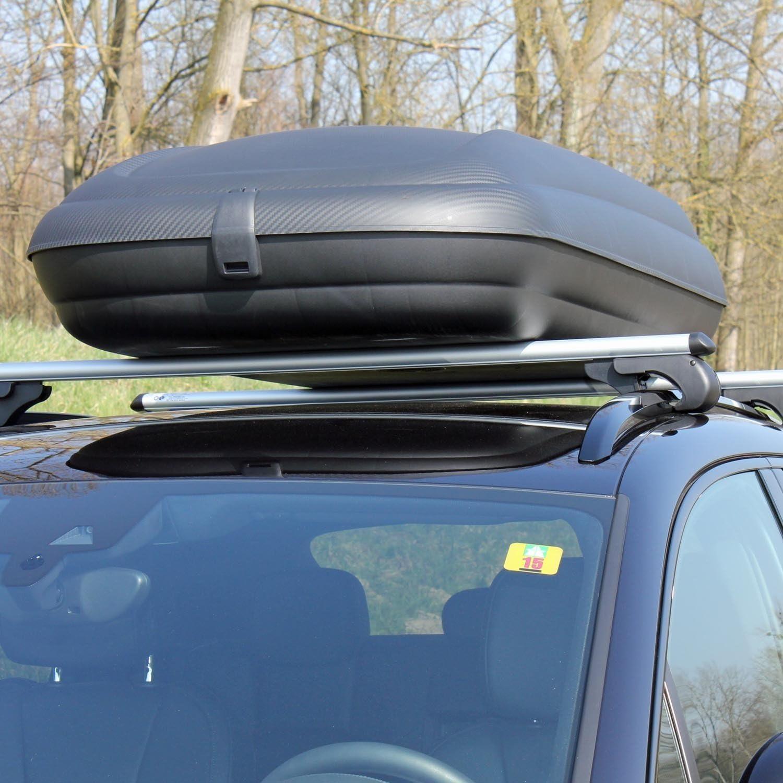 Dachbox VDPBA320 320Ltr carbonlook abschlie/ßbar Alu Dachtr/äger RB003 kompatibel mit BMW Serie 2 Gran Tourer ab 2014 5T/ürer