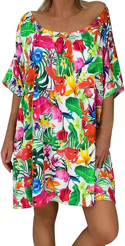 Vestido Playa Mujer Tallas Grandes Wave Camisolas Y Pareos Mujer Vestidos De Playa Traje De Bano Cubrir Tapa De Blusa De Playa Bikini Cover Up Amazon Es Oficina Y Papeleria