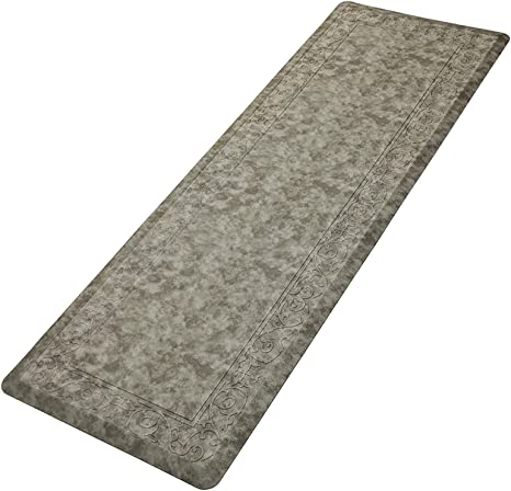 Pauwer Anti Fatigue Kitchen Floor Mat Set of 2 Thick Cushioned Kitchen Mat Carpets Heavy Duty Comfort Standing Mat Waterproof Non Slip Kitchen Rugs Runner