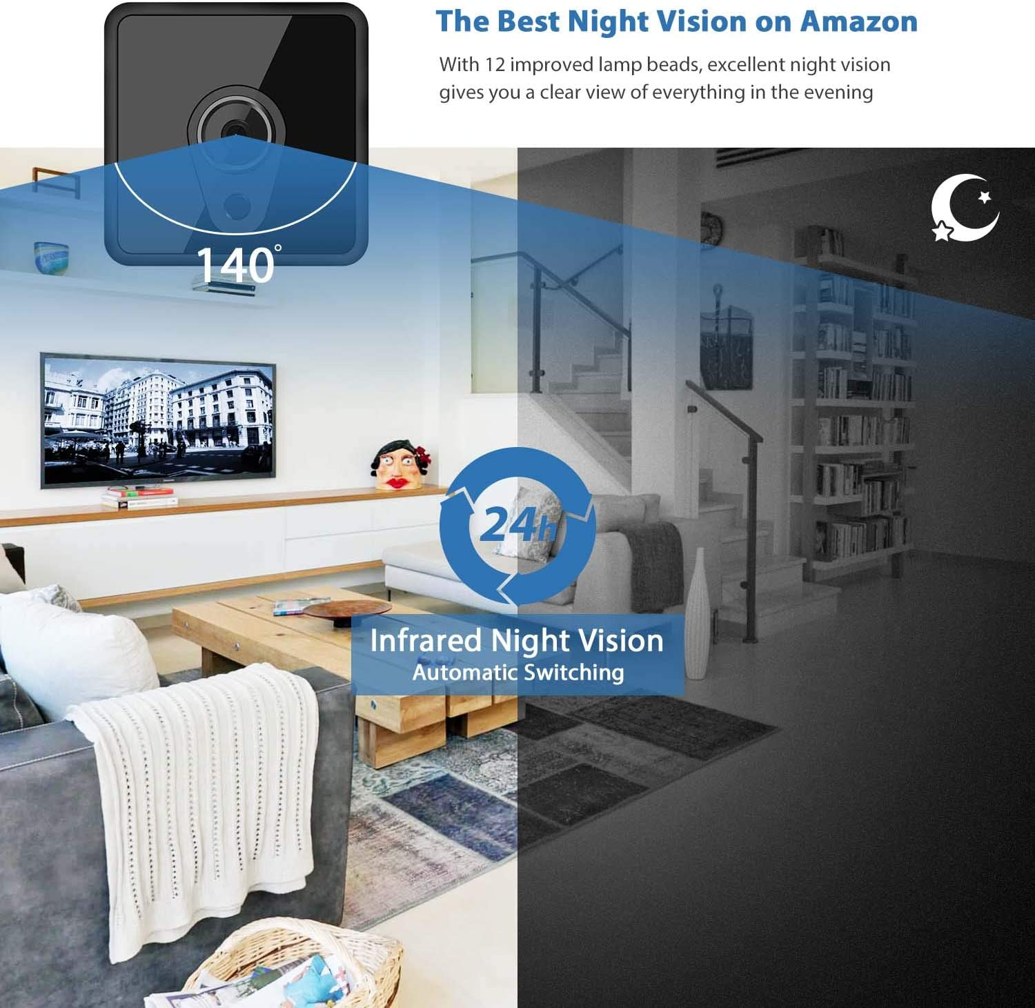 Upgraded Night Vision Motion Activated Spy Cam Nanny Cam with Phone APP Jayol Full HD 1080P Mini Spy Hidden Camera WiFi Spy Camera Wireless Hidden Security Camera for Home//Outdoor