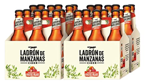 Ladrón de Manzanas Red Berries Cider - 4 Packs de 6 Botellas x 250 ml -