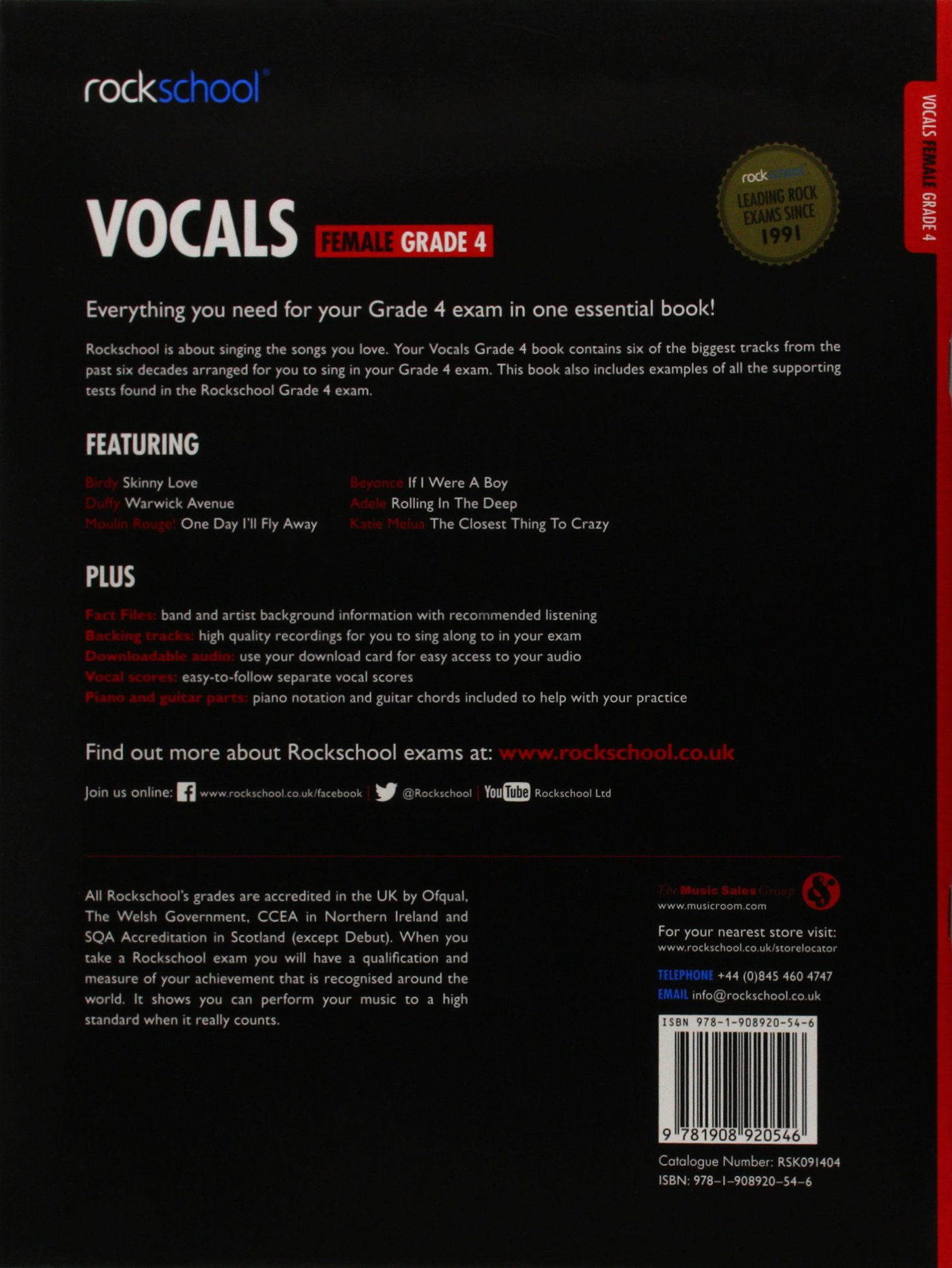 Rockschool Vocals Grade 4 Female 2014 2017 Amazon Various
