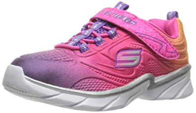 Skechers Diamond Runner, Baskets Fille, Rose (Neon Pink), 32 EU