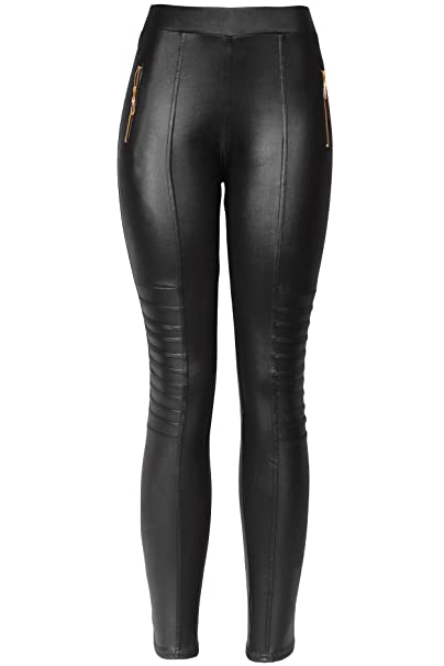 1b8c62feb8eef KMystic Sexy Faux Leather Designs Leggings (Small/Medium, Biker)