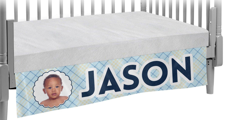 Baby Boy Photo Crib Skirt (Personalized)