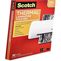$28 » Scotch Thermal Laminating Pouches, 3 Mil Thick, Durable, Clean Finish, Professional Quality, 8.9 x…