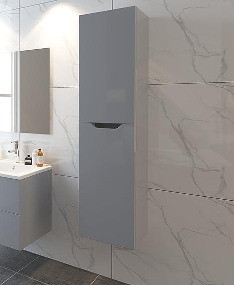 Netta - Mobile toeletta da bagno sospeso con lavabo, con lavandino ...