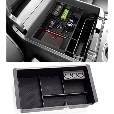 Jaronx Center Console Organizer Tray+Coin Holder for Chevy Silverado/GMC Sierra 1500 (2014-18) and 2500/3500 HD (2015-19) / Chevy Suburban/Tahoe/GMC Yukon (2015-20),Armrest Secondary Storage Box: Automotive