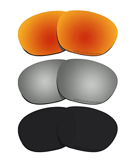 ad5bc6428d Amazon.com  3 Pairs BVANQ Polarized Lenses Replacement for Oakley Garage  Rock OO9175 Sunglasses  Sports   Outdoors