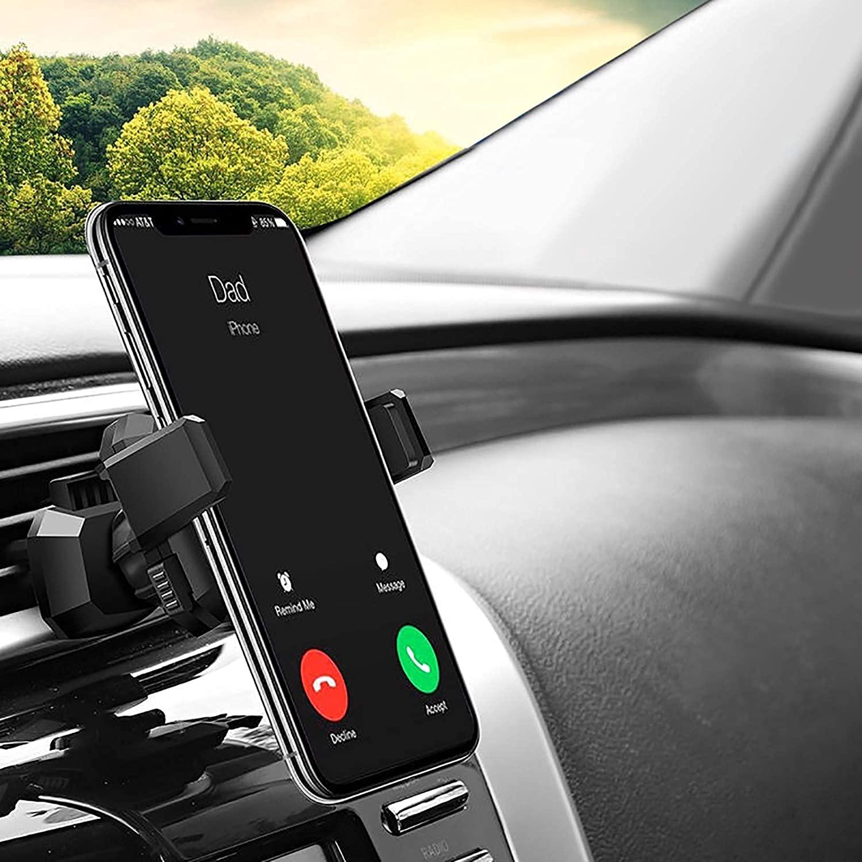 2021 Upgrade YOHOTA Cell Phone Car BracketCar Hands-Free Phone BracketUniversal Exhaust Hole