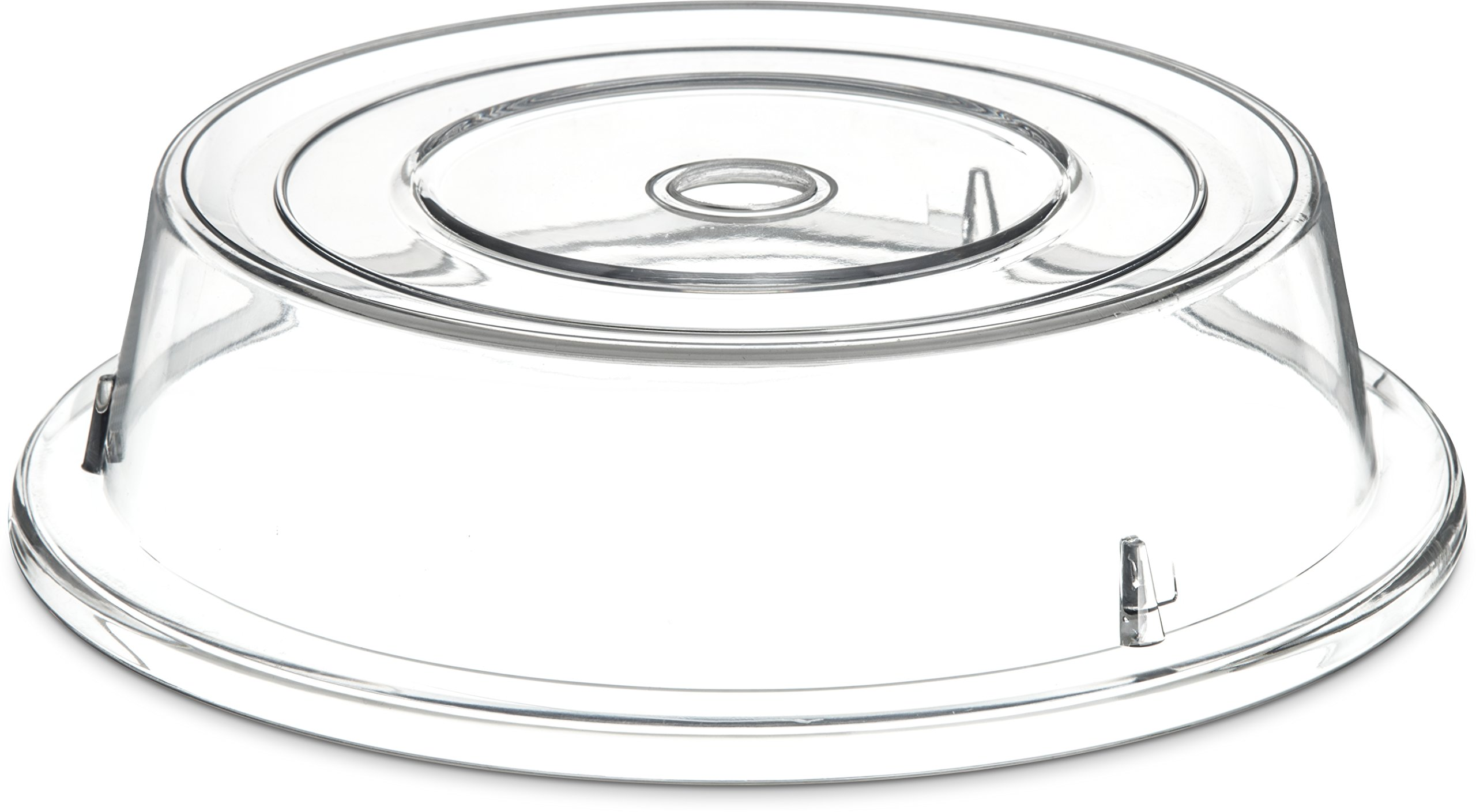 Carlisle 198907 Polycarbonate Plate Cover, 10.6'' Bottom Diameter x 3'' Height, Clear (Case of 12)